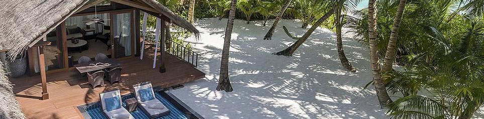 Terrasse von 5 Stern Hotel auf den Malediven