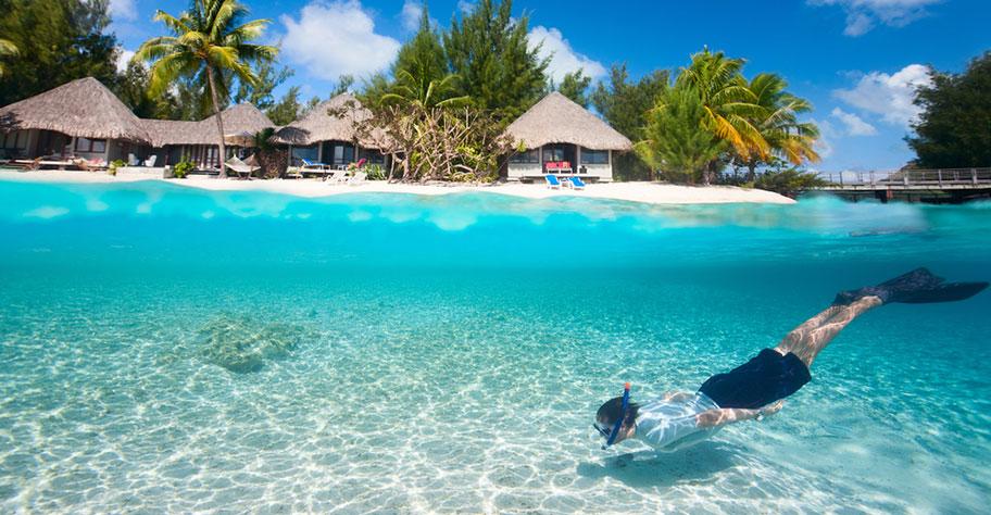 Malediven Inseln mit Hausriff